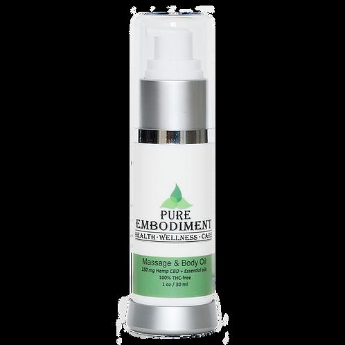 Pure Embodiment -150mg CBD Massage &Body Oil