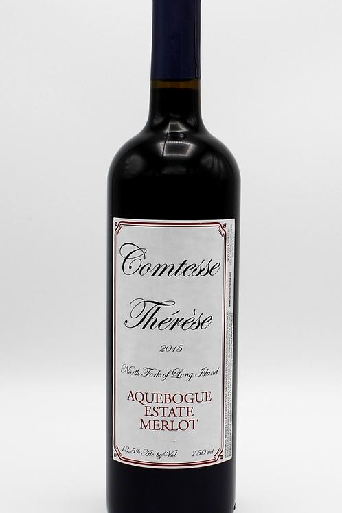 2015 Comtesse Therese Merlot - Aquebogue Estate