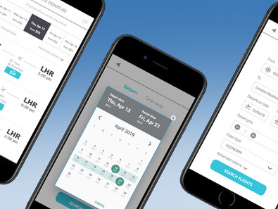 Airline mobile app prototype