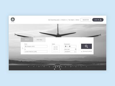 Airline website prototype