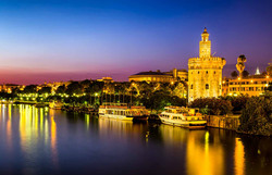 Seville - Golden Tower by night