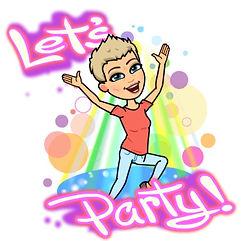 Pee-wee Let's Party Bitmoji