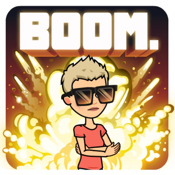 Pee-wee boom bitmoji