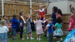 party dancing children Pee-wee