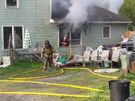 Dwelling Fire on Rock Hall's Main Street