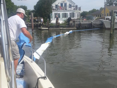 RHVFC responds to Fuel Spill in Harbor