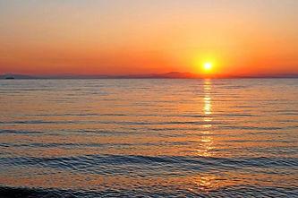 superbe coucher de soleil à bord du Port-Grusan
