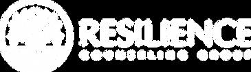 Resilience Logo - Horizontal - White Tra