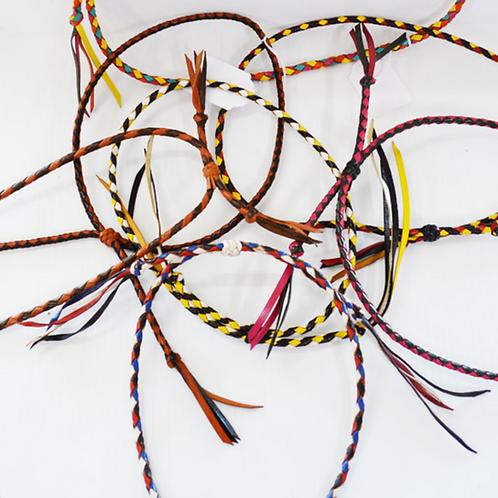 Round Plait Hat Bands Multicoloured