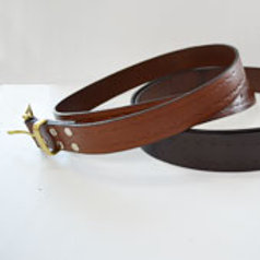 Decorated Leather Belt