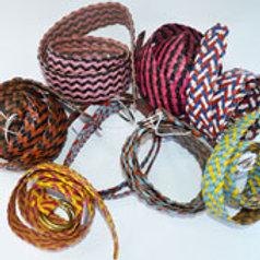 Multicoloured Plaited Belt
