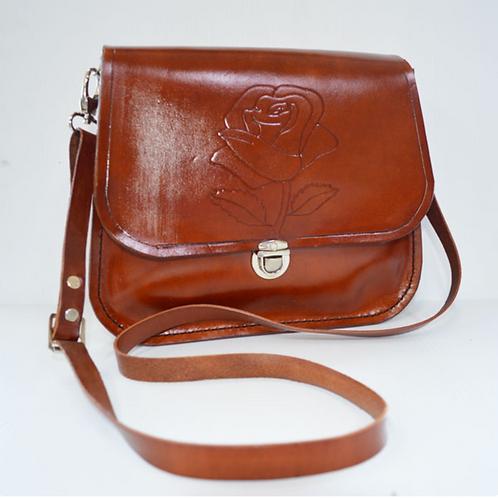Decorated Leather Handbag