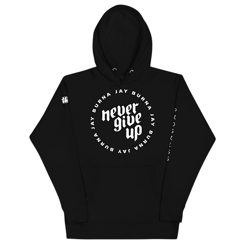 Never Give Up Big Logo Hoodie