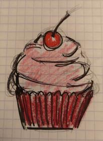 Les carnets d'Agnes Dessin cupcake