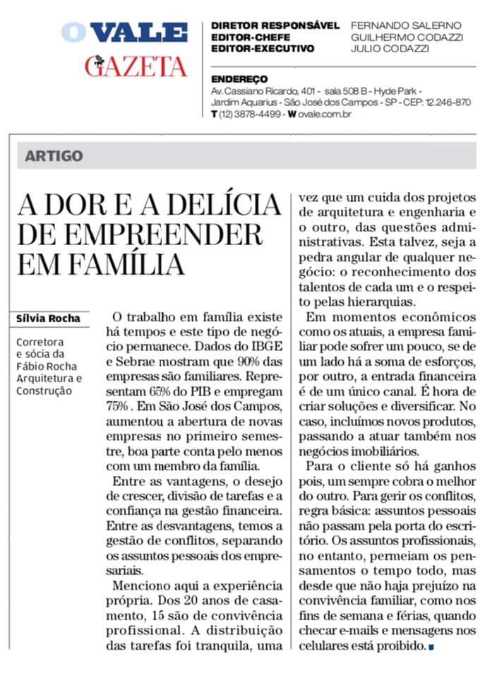 Artigo | A Dor e a Delícia de Empreender em Família