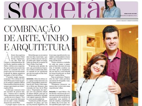 Jornal O Vale - Combinação de Arte, Vinho e Arquitetura