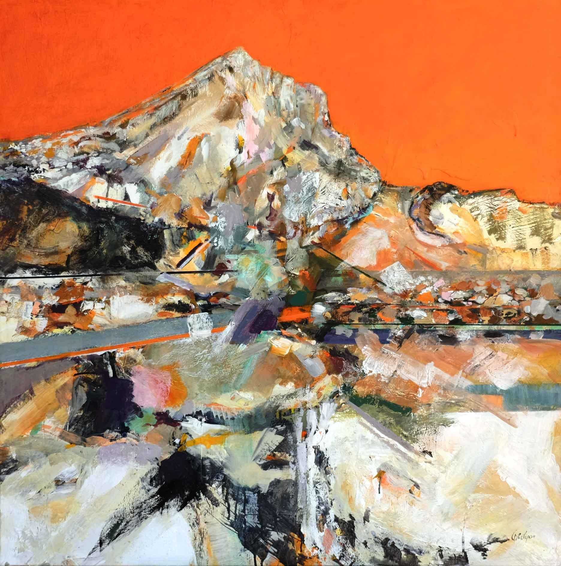 La St Victoire au ciel orange