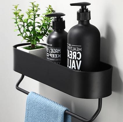 מדף שחור לאמבטיה