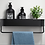 Thumbnail: מדף שחור לאמבטיה
