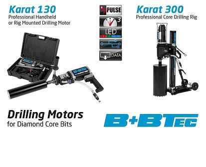 BBTec Karat 130 core drilling machine core bits