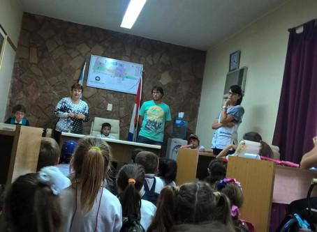 Visita de alumnos de Instituto Privado primario NAZARET de Funes