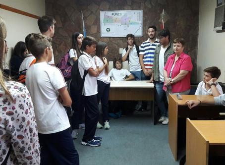 Visita de alumnos Escuela Ing. Raul Arino de Funes