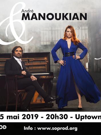 André Manoukian et Elodie Frégé