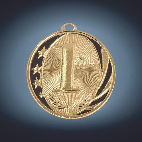 "Laserable MidNite Star Medal - 2"""