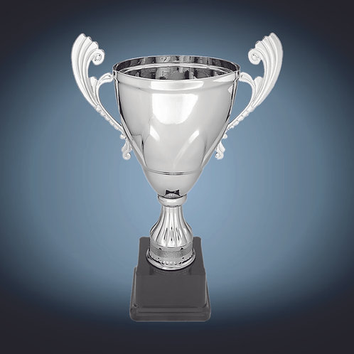 Silver Completed Metal Cup on Plastic Base