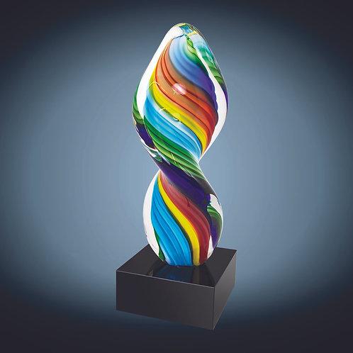 Rainbow Twist Art Glass