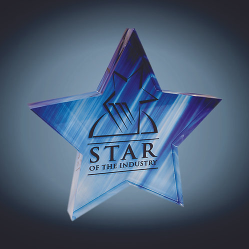 Sublimatable Star Acrylic Paperweight