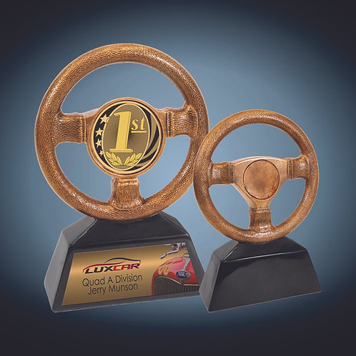 Antique Gold Steering Wheel Resin
