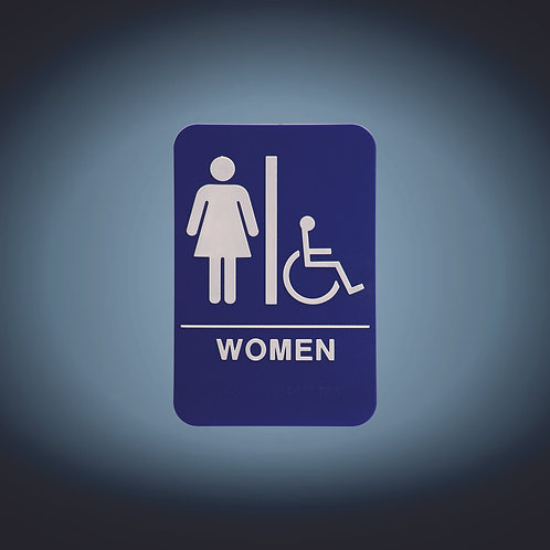 "Kota Pro ADA 6"" x 9"" Women (w/wheelchair) Accessible Restroom Sign"