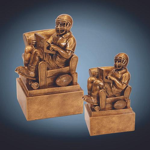 Antique Gold Fantasy Football Man in Chair Resin Award