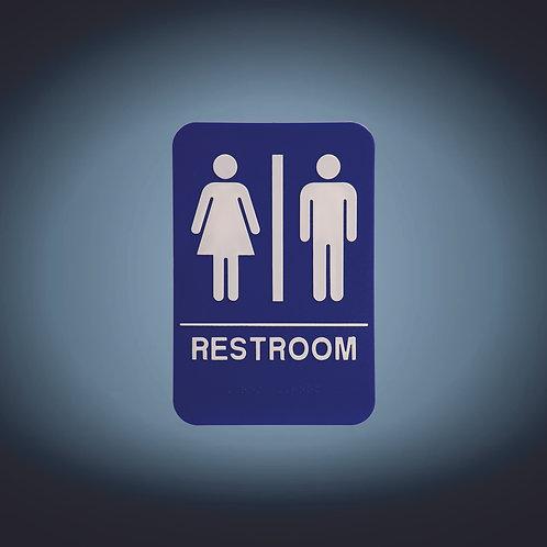 "Kota Pro ADA 6"" x 9""  Unisex Accessible Restroom Sign"