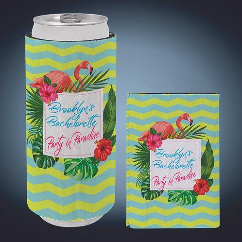 White Slim Sublimatable Beverage Holder Sleeve