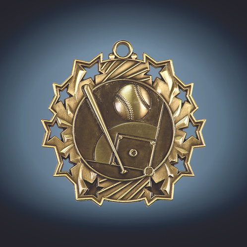 "Ten Star Medal - 2.25"""