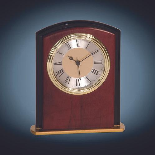 Mahogony Finish Square Arch Clock