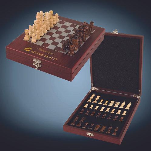Rosewood Finish Chess Set