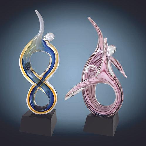 Figure Rising Art Glass