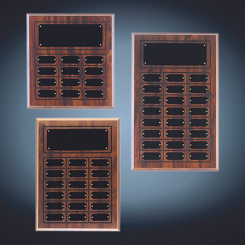 Cherry Finish Perpetual Plaques with Outline
