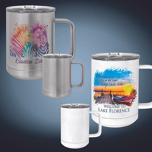 15oz. Vacuum Insulated Mug w/Slider Lid