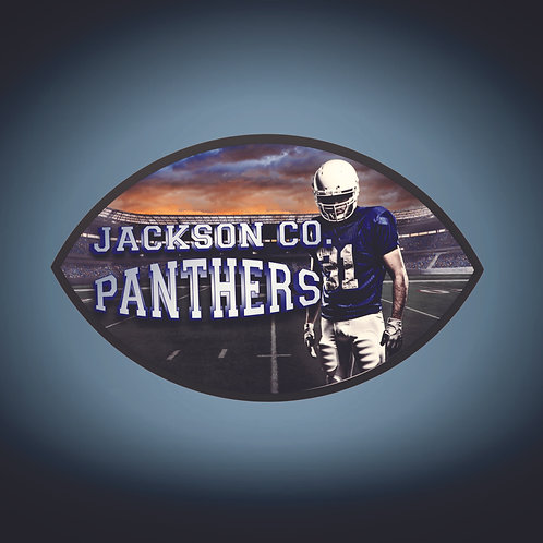 Sublimatable Football Plaque with Black Edge