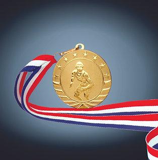 """Bright Gold Starbrite Medal - 2"""" & 2 3/4"""""""