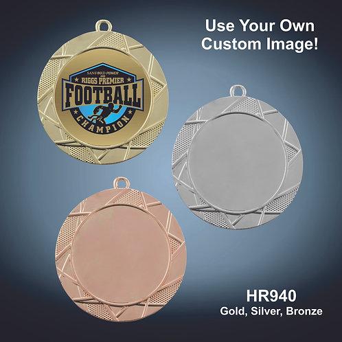 "Bright Deco Insert Holder Medal - 2 3/4"""