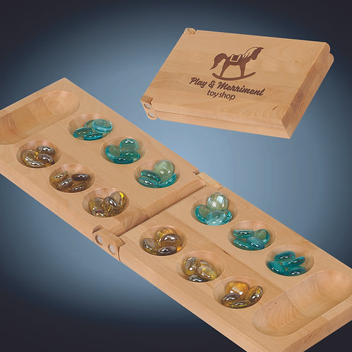 Wood Mancala Game Gift Set