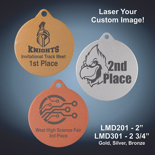 """Laserable Medals - 2"""" & 2 3/4"""""""