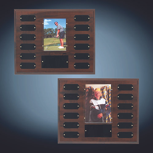 Cherry Finish Perpetual Plaque with Photo