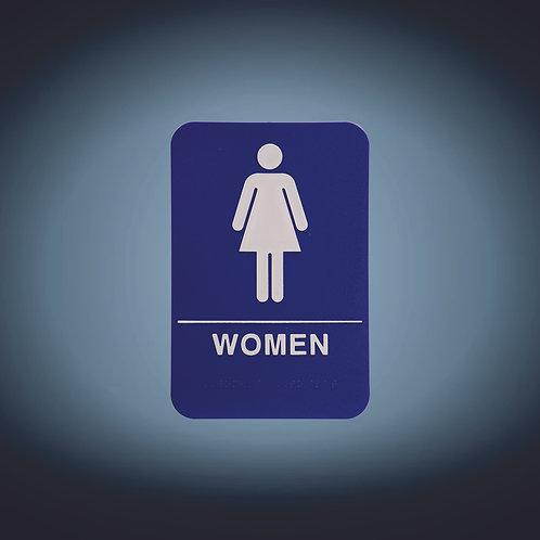 """Kota Pro ADA 6"""" x 9"""" Women Accessible Restroom Sign"""