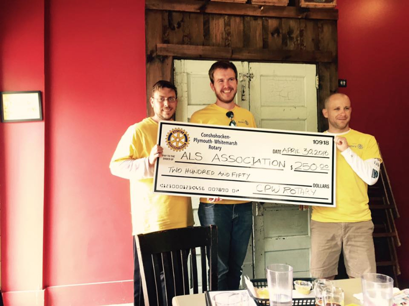 CPW Rotary donates to ALS